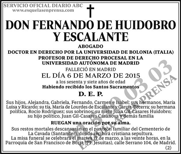 Fernando de Huidobro y Escalante